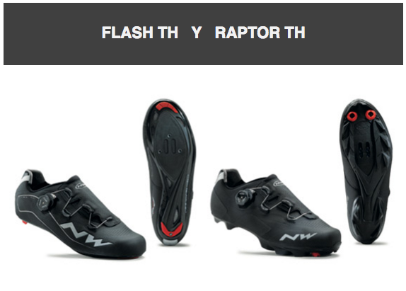 Northwave Flash TH y Raptor TH