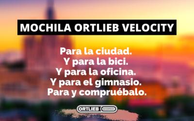 Mochila Ortlieb Velocity: Para la ciudad. Y para la bici. Y para la oficina. Y para el gimnasio. Para y compruébalo.