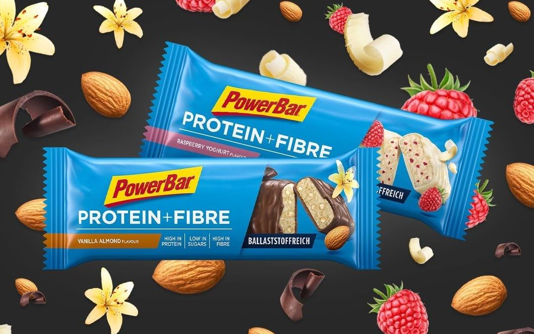 En la barrita PowerBar Protein Plus Fibre la proteína y la fibra son la combinación perfecta para la recuperación, la salud y el sabor